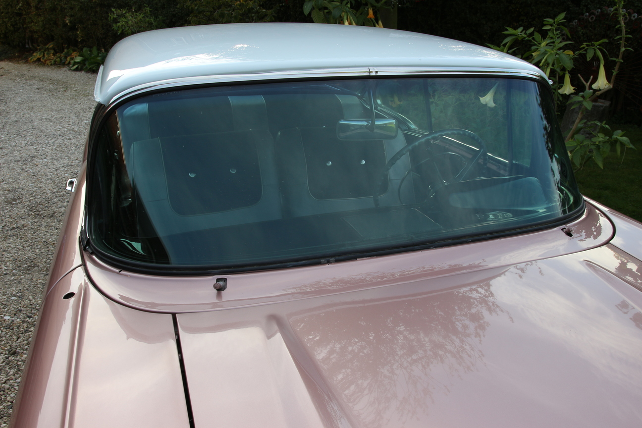 Front Windshield Trim Install 1955 Chevy 1956 1957 Side Window Seal Back From Paint The Engine Is Still Warm